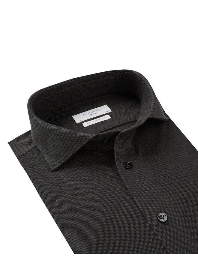 Uni Donker - Groen Knitted Slim Fit