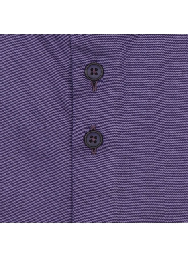 Uni Paars Detail Grijs - Tinten - Modern Fit