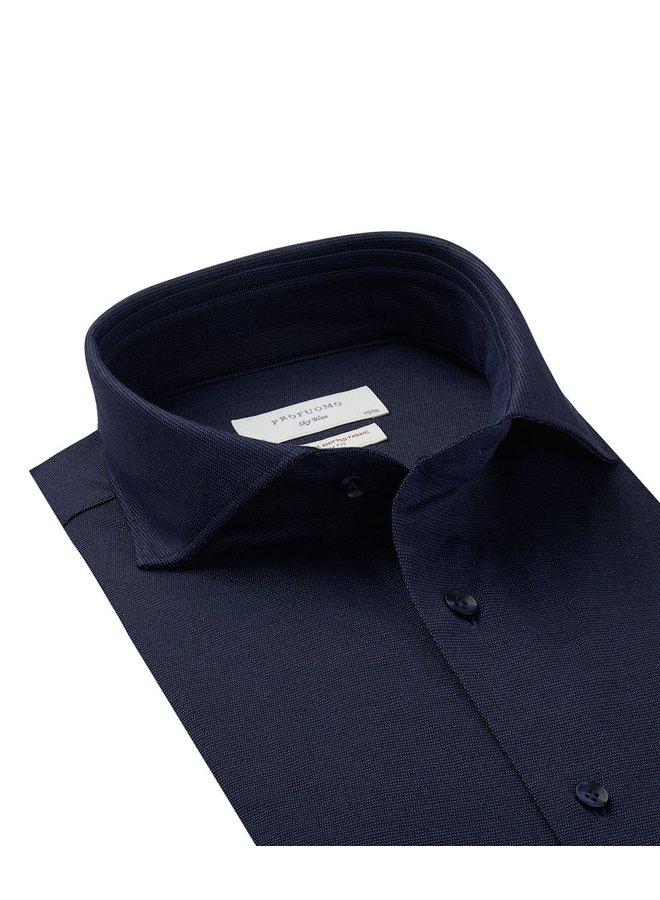 Midden Blauw gemêleerd  Japanese Knitted
