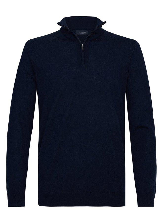 Pullover Zipsluiting - Donkerblauw
