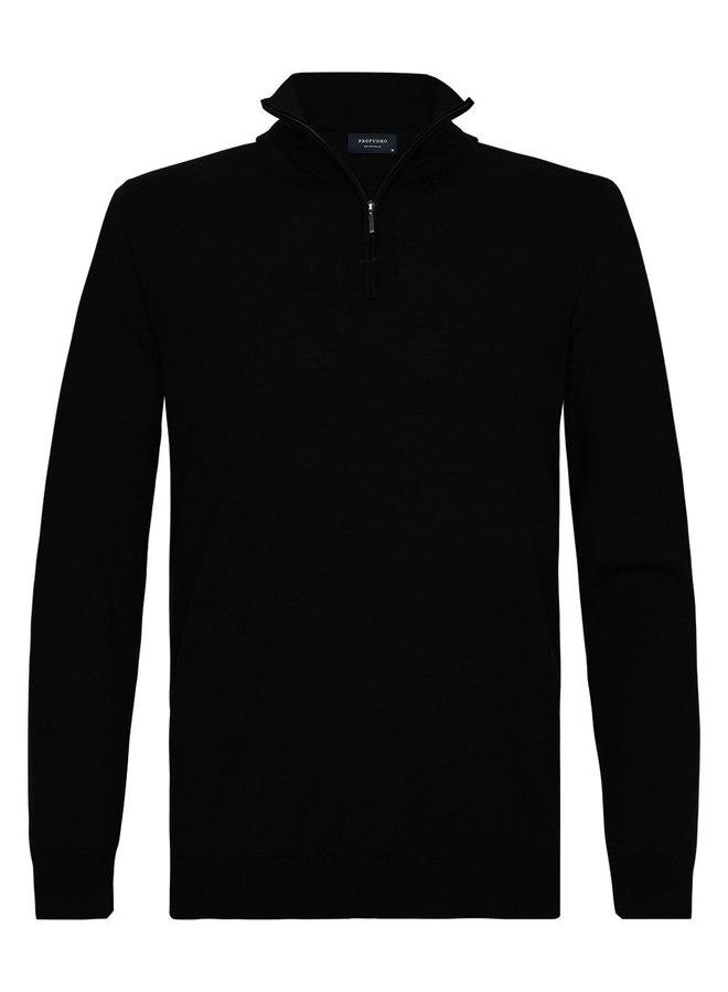 Pullover Zipsluiting - Zwart