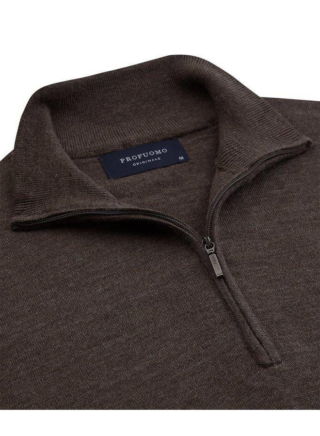 Pullover Zipsluiting - Taupe