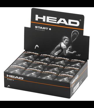 Head Start Squash Ball - Single White Dot