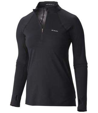 Columbia Midweight Stretch L/S 1/2 Ladies Top