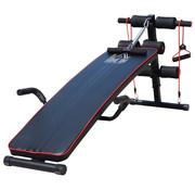HOMCOM HOMCOM Sit-up bank buikspieren trainer - verstelbaar - zwart/rood 56,5 x 135 x 50-68cm