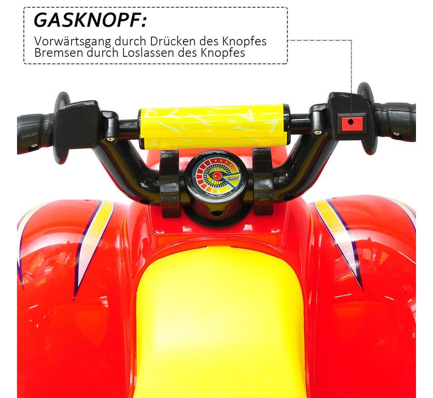 HOMCOM Elektrische kinderauto quad kids motorfiets rood