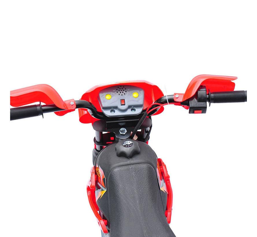 HOMCOM Elektrische kinderfiets Motorfiets - rood