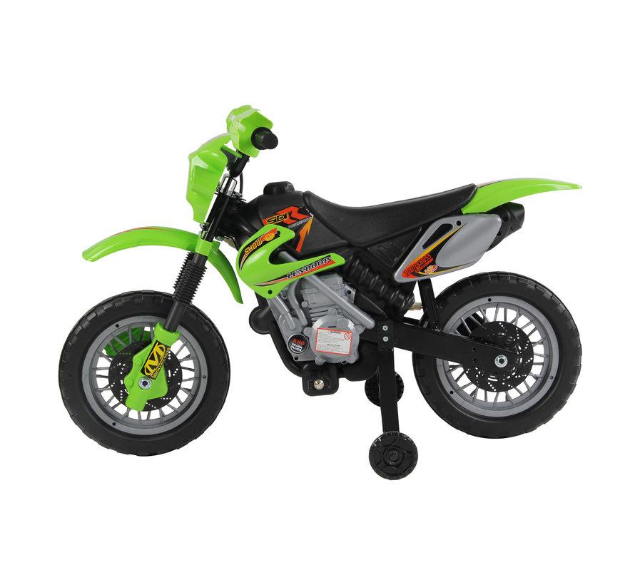 HOMCOM Elektrische kinderfiets Motorfiets - groen