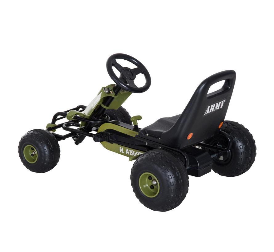 HOMCOM Pedaalauto Pedal Go Kart vanaf 3 jaar groen