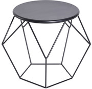HOMCOM HOMCOM Bijzettafel koffietafel geometrisch metaal zwart 54 x 54 x 44 cm