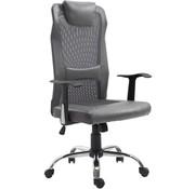 Vinsetto Vinsetto Bureaustoel ergonomisch kunstleer grijs 51 x 60,8 x 112 122 cm