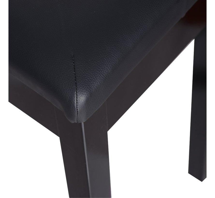 HOMCOM Pianokruk met opbergruimte zwart 76 x 36 x 50 cm