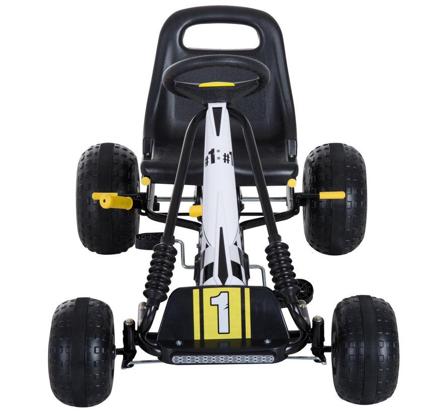 HOMCOM Trapauto Go Kart zwart