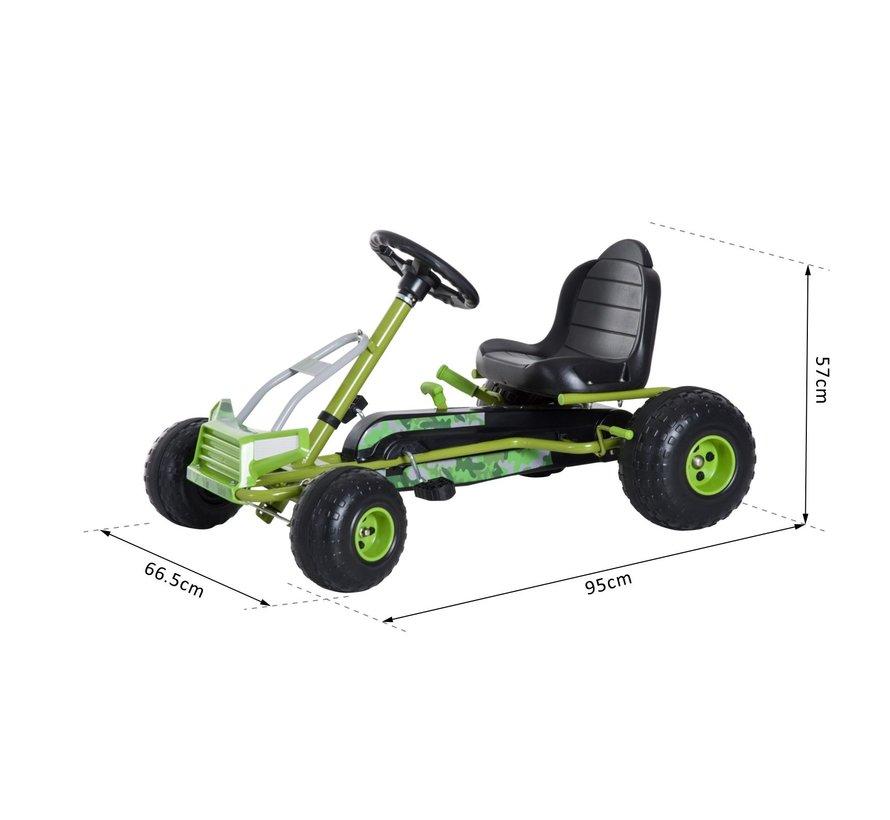 HOMCOM Trapauto Go Kart groen