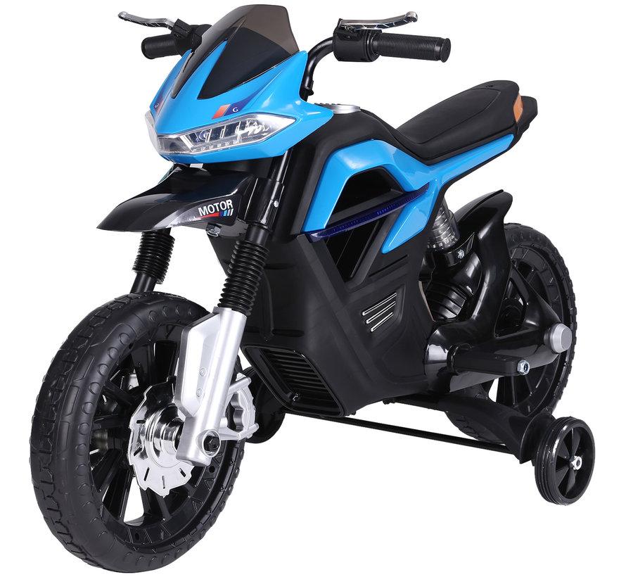 HOMCOM Elektrische kindermotor zwart/blauw 105 x 52,3 x 62,3 cm