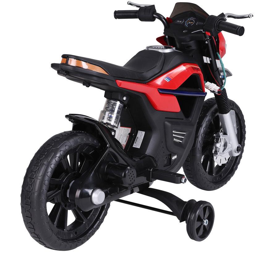 HOMCOM Elektrische kindermotor zwart/rood 105 x 52,3 x 62,3 cm
