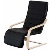 HOMCOM HOMCOM Relaxstoel met verstelbare beensteun zwart 66,5 x 81 x 100cm