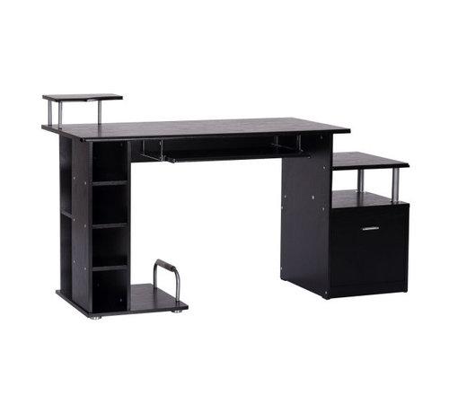 HOMCOM HOMCOM Computertafel bureau zwart 152 x 60 x 88cm