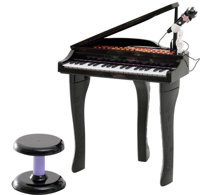 HOMCOM Piano-muziekinstrument voor kinderen met 37 toetsen incl. zwart