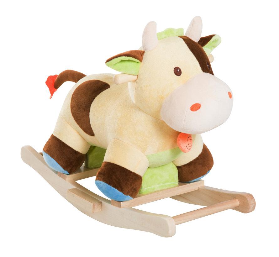 HOMCOM Schommeldier pluche koe