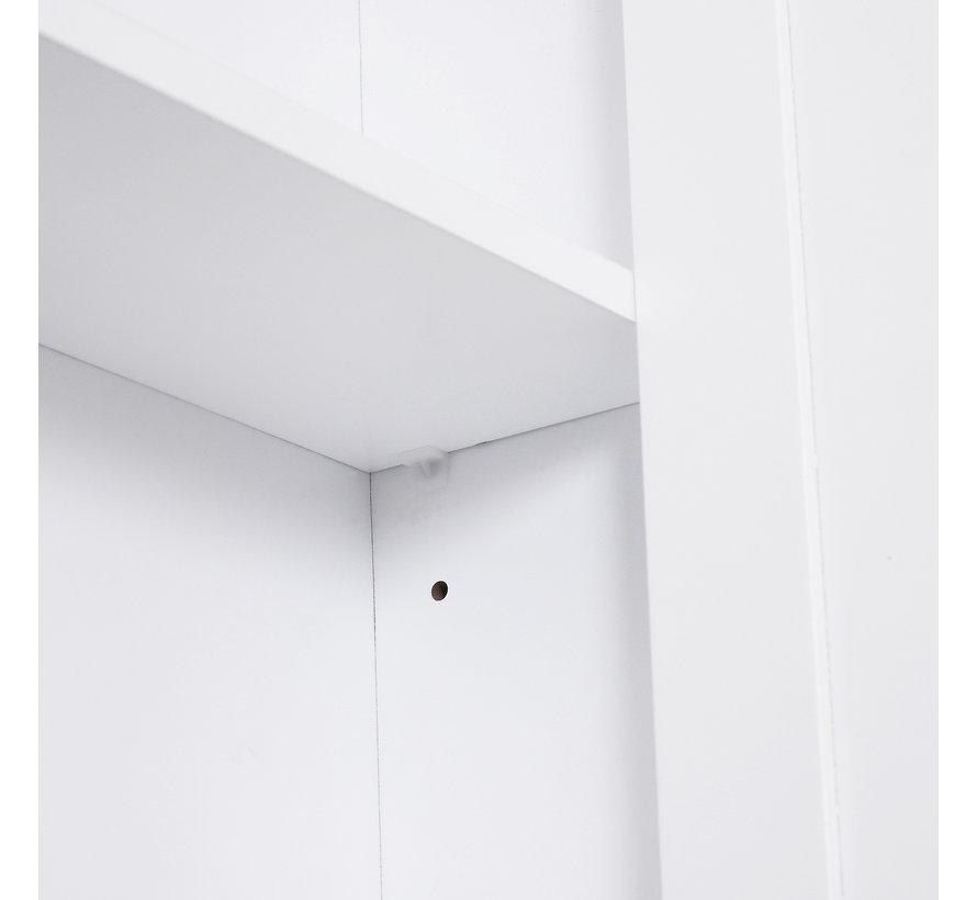 HOMCOM Badkamerkast om op te hangen wit 53 x 14,5 x 50,5 cm