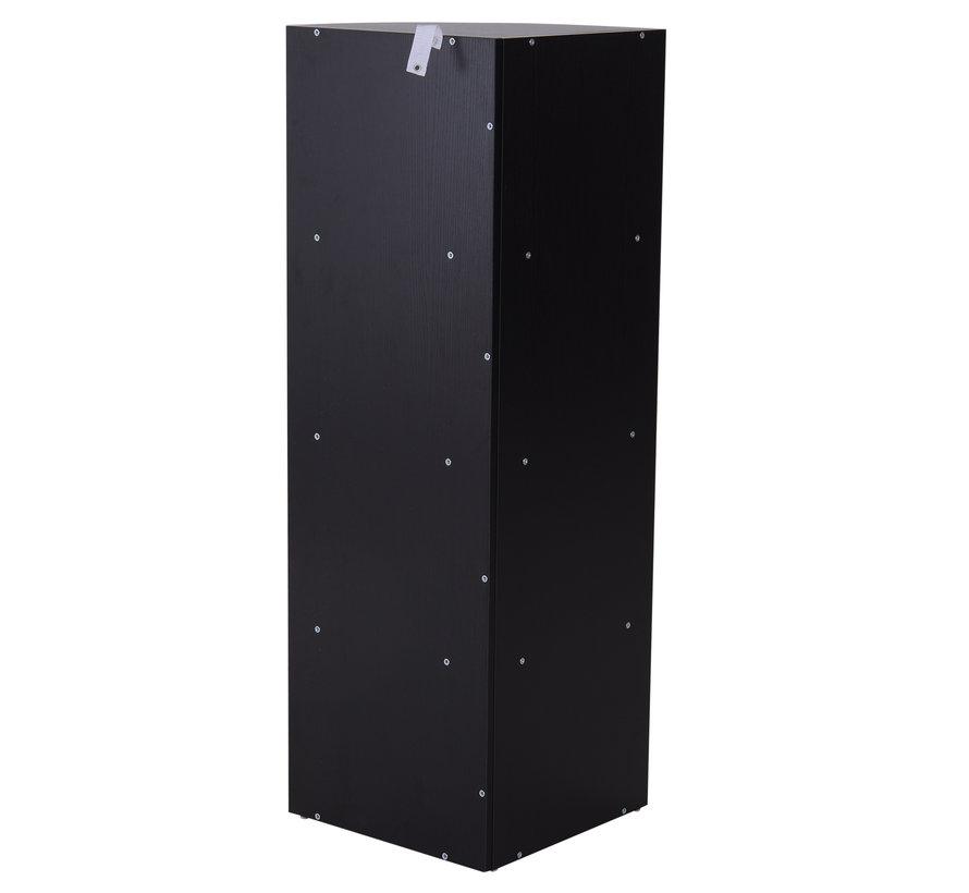HOMCOM Boekenkast hoekmodel met 4 vakken zwart 39,5 x 39,5 x 120 cm