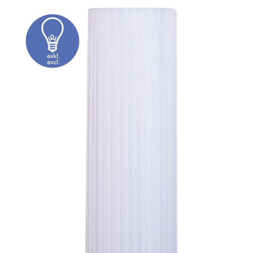 HOMCOM Vloerlamp 40W rond wit 20 x 160 cm