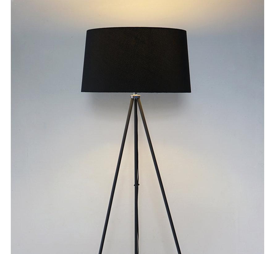 HOMCOM Vloerlamp tripod Scandinavisch zwart  48 x 156 cm