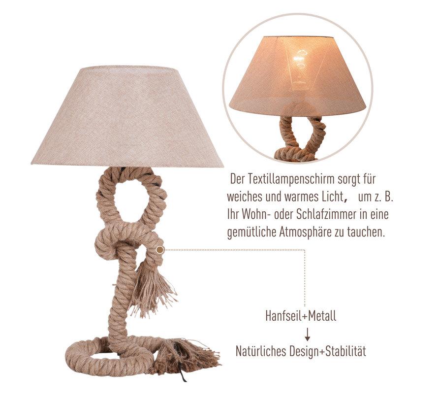 HOMCOM Tafellamp touw beige 40 x 40 x 65 cm