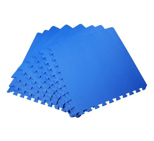 HOMCOM HOMCOM Puzzelmat speelmat EVA 8-delig blauw