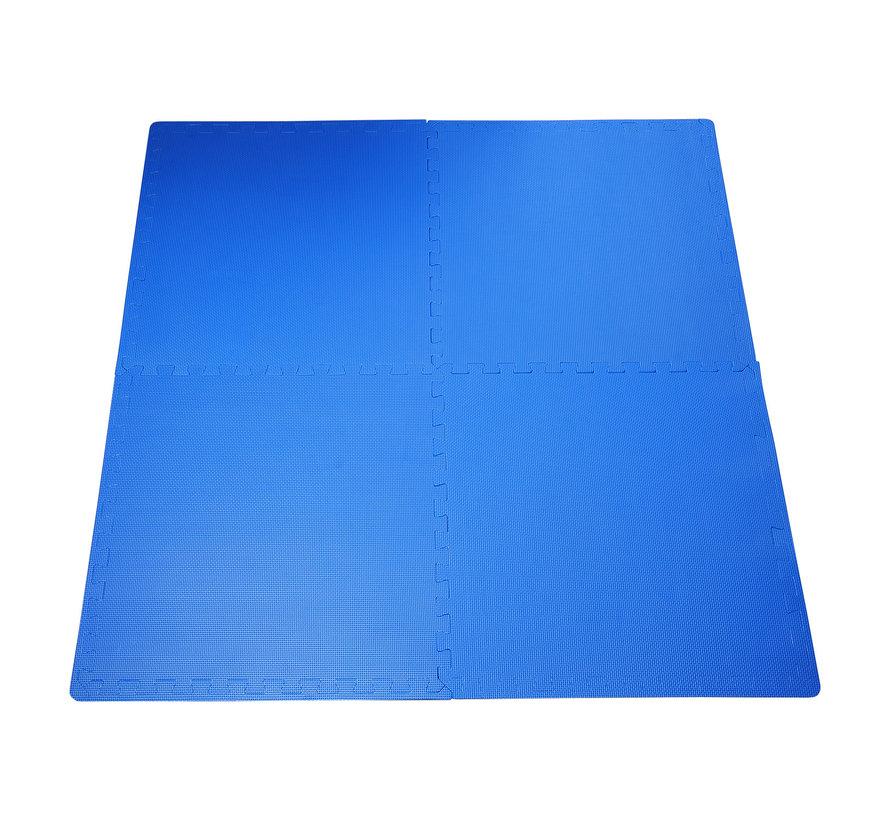 HOMCOM Puzzelmat speelmat EVA 8-delig blauw
