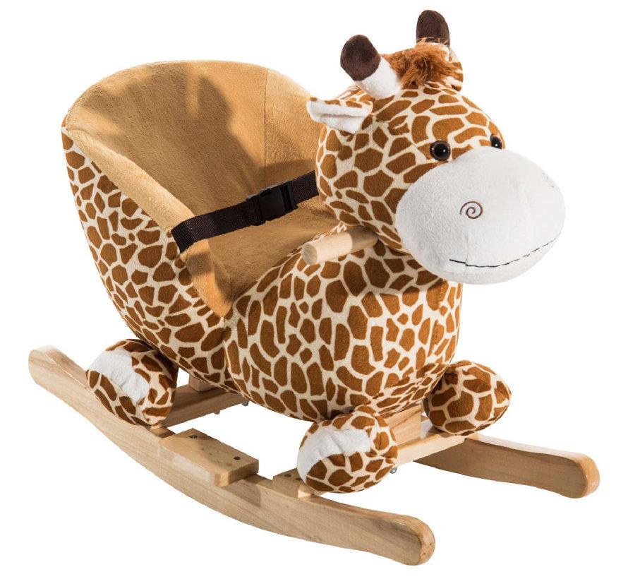 HOMCOM Schommeldier giraffe met muziek