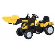 HOMCOM HOMCOM Loopwagen tractor met frontlader zwart/geel