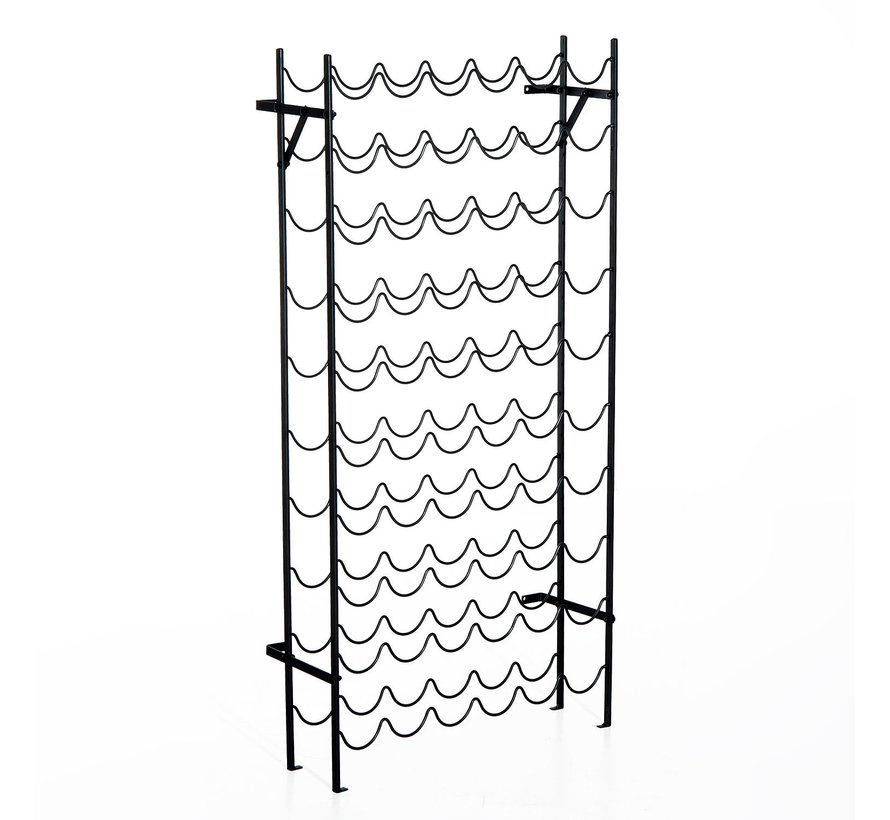 HOMCOM Wijnrek voor 60 flessen metaal zwart 63 x 20,5 118cm