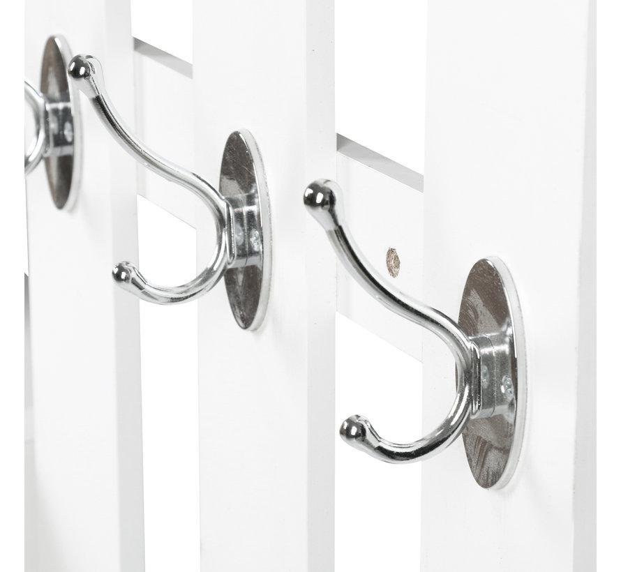 HOMCOM Garderobeset 2-delig met schoenenkast en spiegel wit
