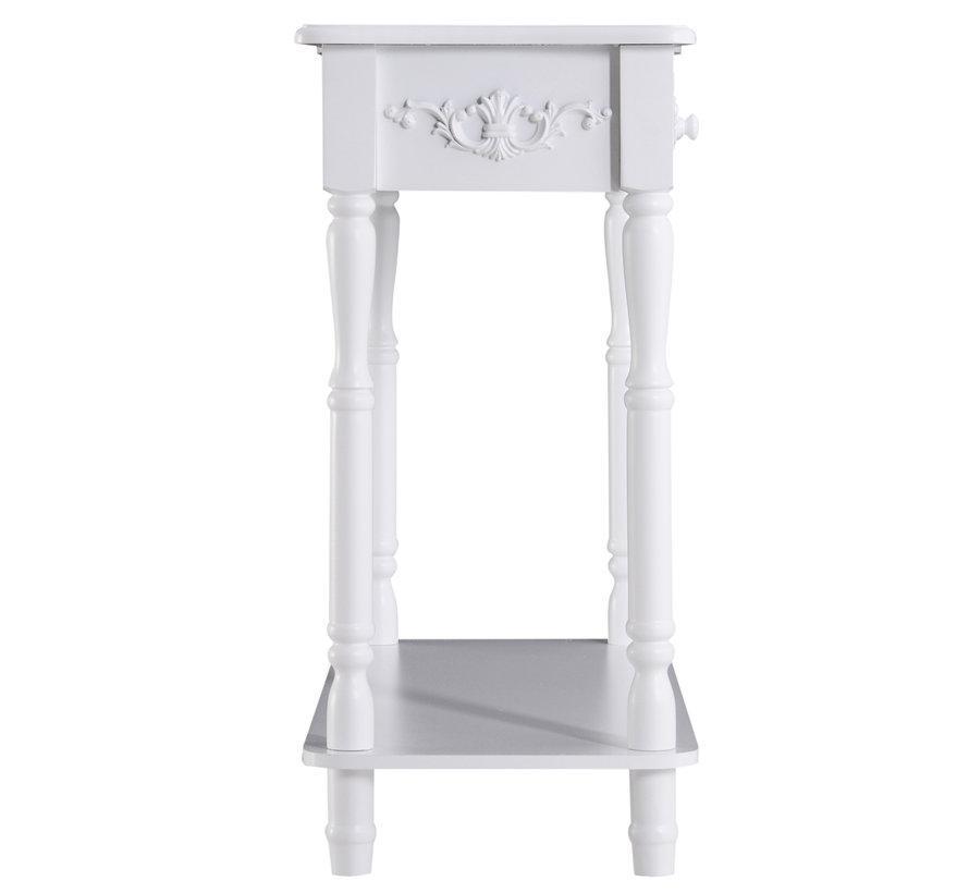 HOMCOM Sideboard dressoir hout wit 84 x 33 x 70,5cm