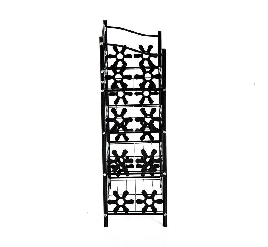 HOMCOM Wandrek 4 legplanken metaal zwart 59,5 x 30 x 92cm