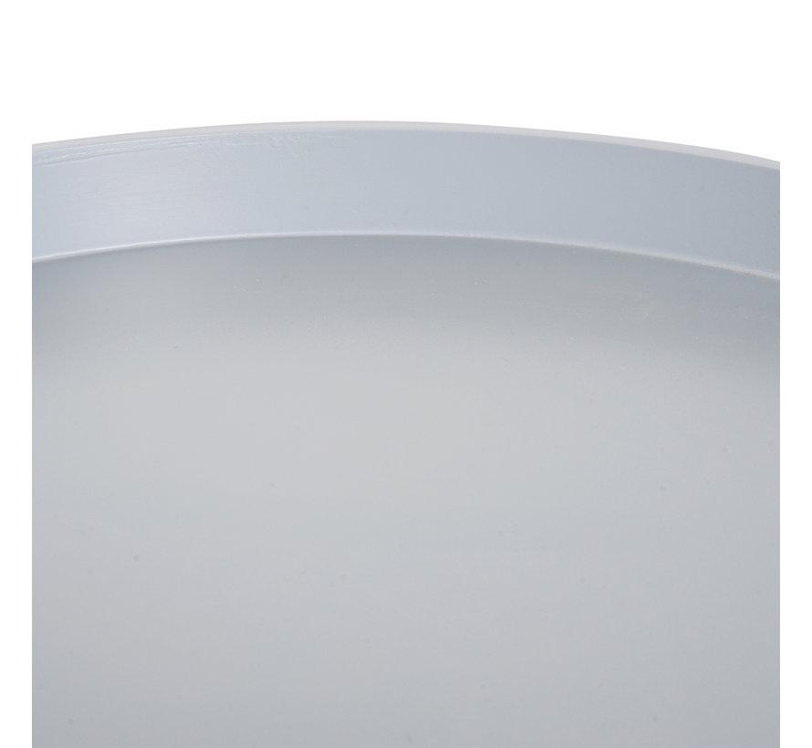HOMCOM Bijzettafel rond met lade hout grijs 38 x 45cm
