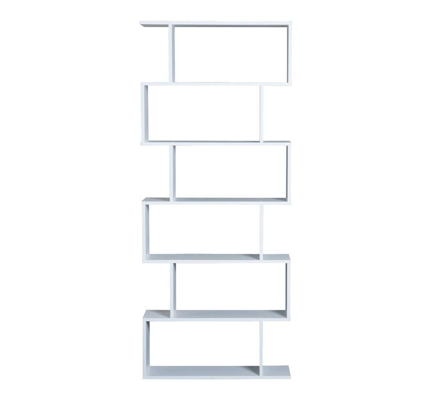 HOMCOM Boekenkast met 6 vakken wit 80 x 23 x 192cm