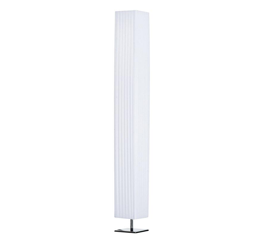 HOMCOM Staande vloerlamp RVS wit E27 14 x 14 x 120cm