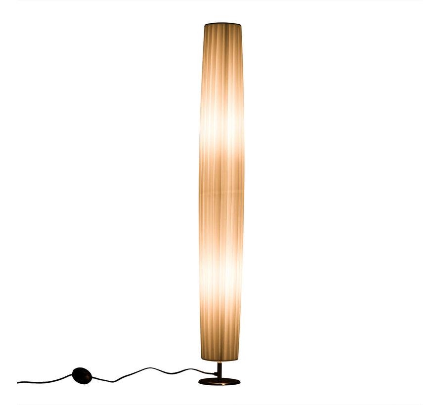 HOMCOM Staande vloerlamp RVS wit E27 15 x 120cm