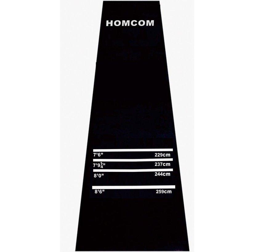 HOMCOM Professionele Rubberen Dartmat met 4 werpafstanden