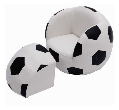 HOMCOM HOMCOM Bank in vorm van een voetbal met poef
