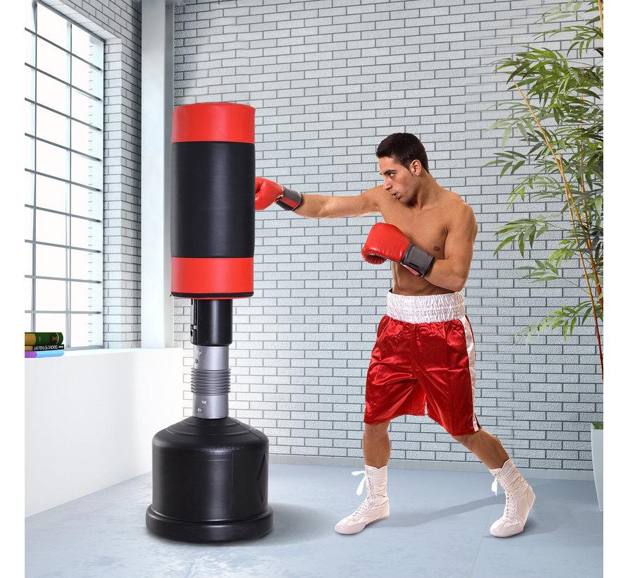 HOMCOM Staandebokszak voor bokstraining 160 - 185 cm