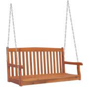 Outsunny Outsunny Hangende zitbankschommel 2-pers hout kettingen 122 x 61 x 59 cm