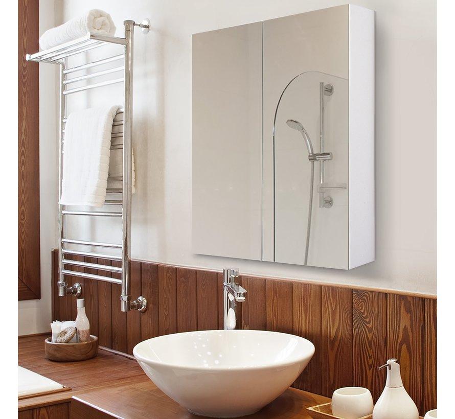 HOMCOM Spiegelkast badkamer 75 x 60 x 15cm