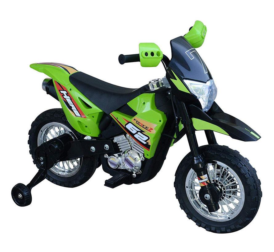HOMCOM Elektrische kindermotor zwart/groen 3 tot 8 jaar