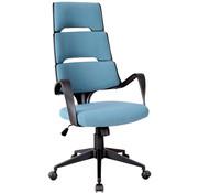 Vinsetto Vinsetto Bureaustoel directie met kiepfunctie blauw linnen 59,5 x 66,5 x 117,5-126,5cm