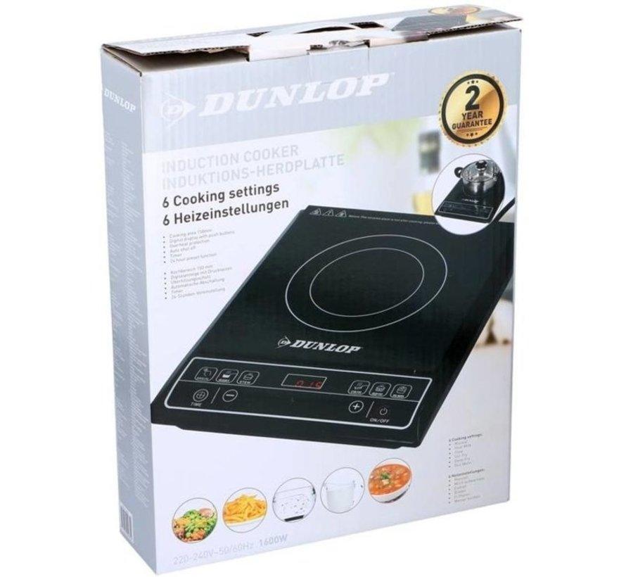Dunlop 1 pits inductiekookplaat - 1600W