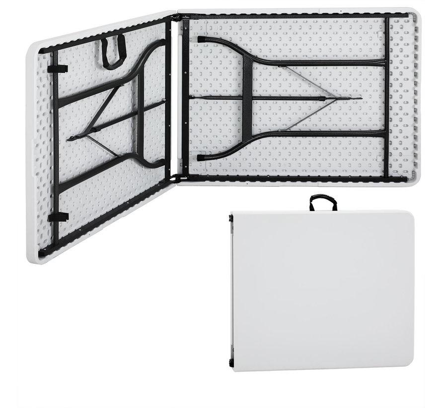 Deuba Opvouwbare Tuintafel wit kunststof 240x70x74cm
